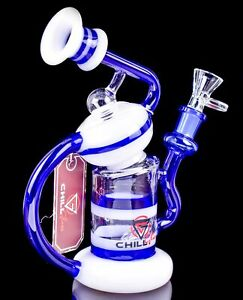 HELIX 3 Arm RECYCLER Glass Water Pipe BONG Clear Bubbler UNIQUE Hookah *USA*