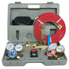 Oxygen Acetylene Welding Cutting Torch Kit Harris Type W/ Goggles Tips Burner HD