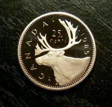 CANADA 1985 25 CENTS PROOF - FROM RCM