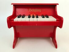 Schylling Miniature Mini Lacquered Red Kid's Children's 18-Key Wood Piano