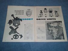 1960 Tech Info Article on Accessory Drive Units for the Front of Engines