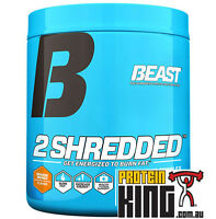 BEAST 2SHREDDED 274G ORANGE MANGO THERMOGENIC POWDER FAT BURNER 2 SHREDDED CUT