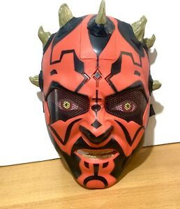 Star Wars Darth Maul Talking Electronic Mask by Hasbro 2011 Tested Working Fast