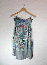 FOREVER Floral Tube Dress, Size L, Color Sage Green multi