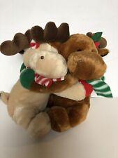 "Caltoy Plush Stuffed Green Red Hugging Christmas Rendeer Holiday 10"""