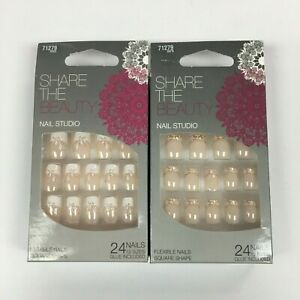 Share The Beauty Nail Studio False Nails With Glue - Various Styles
