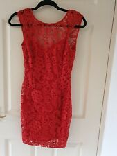 Size 8 Red Lace Lipsy Dress