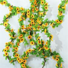 Artificial Amarillo Girasol Guirnalda Flor Vid Boda Floral Arco Decoración DIY
