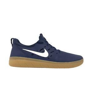 Nike SB Nyjah Free Skateboarding Shoes Gum Navy Blue AA4272-401 Men's Size 9