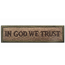 U.S. IN GOD WE TRUST PATCHES America TACTICAL USA ARMY MORALE BADGE PATCH