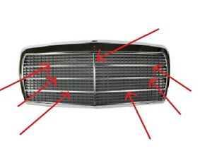 Fit For Mercedes Benz W126 Grill Moulding trim set 7 Pcs Alu 280S 280SE 500SEL S