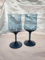 Lenox Crystal Light Misty Blue  Wine Glasses Set of Two