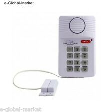 Door Security Alarm System & Panic Button Keypad 3 Settings Home Garage Shed