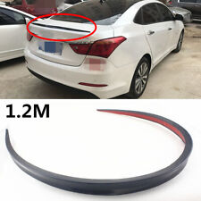 120cm Flexible Durable PU Car Rear Roof Trunk Spoiler Wing Lip Trim Sticker Kit