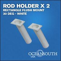 Oceansouth ROD HOLDER x 2 - Rectangle 30 deg White