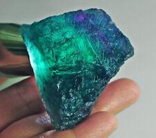 345Ct Natural Blue Fluorite Crystal Specimen Rough YVB193