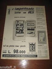 *57=REX FRIGORIFERO=ANNI '50=PUBBLICITA=ADVERTISING=WERBUNG=PUBLICITE=
