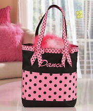 Adorable is this DANCE TOTE in Pink w/Black Dots,  For The Girl in Your Family