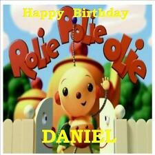 """ROLIE POLIE OLIE SQUARE 7.5"""" X7.5"""" EDIBLE ICING SHEET BIRTHDAY PARTY CAKE TOPPER"""