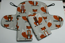 ERGO 360 ADAPT/OMNI BABY CARRIER SUCK/TEETHING PADS & DRIBBLE BIB SET.Dapper Fox