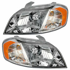 FOR CHEVY AVEO SEDAN 2007 2008 2009 2010 2011 HEADLIGHT LEFT AND RIGHT PAIR SET