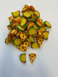 60 Mini Taco and Pizza shaped erasers teacher supply sorting math counter