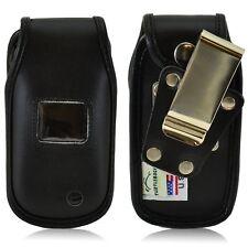 Turtleback LG Envoy 3 III UN170 Flip Phone Leather Fitted Case Metal Belt Clip