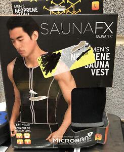SAUNAFX Men's Neoprene sauna vest lose water weight workout NEW black Sz#L