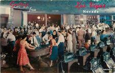 1950s Hotel Flamingo Casino Slot Machines gambling Reno Nevada Crocker 1174