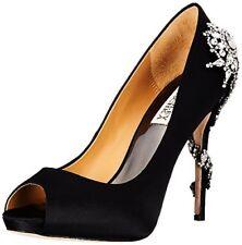Badgley Mischka Royal Peep-toe Dress HEELS Black 10 US