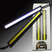 2*Bright White Car COB LED Light DRL Daytime Running Driving Lamp Waterproof 12V