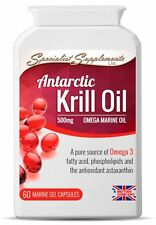 Aceite De Krill Pure Superba Antártico Alta Resistencia 60 X 500mg cápsulas de Omega 3