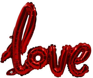 Red Love Letter Foil Balloon Inflatable Balloons Valentine's Day Gift Decoration