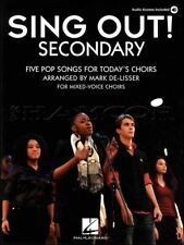 Sing Out Secondary Sheet Music Book/Audio Coldplay Pink Pop SAME DAY DISPATCH