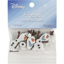 "**NEW**DISNEY FROZEN - ""OLAF BUTTON EMBELLISHMENTS"" By Dress it Up 560503"