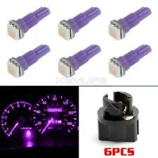 6Pcs Car T5 PC74 Purple 1-5050-SMD Light LED Bulbs Dashboard Wedge Lamps