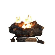 24 in. Ventless Gas Fireplace Logs Propane Gas with Remote Control 39000 BTU New