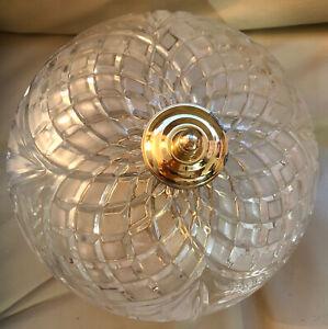 Traditional Cut Glass & Brass Ceiling Light.