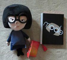 Disney Store  Incredibles Edna Mode Plush Doll + Edna Journal  New