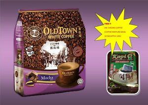 OLD TOWN WHITE COFFEE- MOCHA (15 stick x 35 G) FREE AIK CHEONG MIXTURE COFFEE