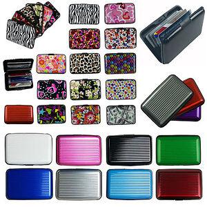 Business ID Credit Card Wallet Holder Aluminum covered Pocket Case Box