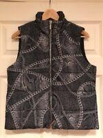 "Michael Michael Kors Gray ""Chain"" Puffer Vest, Size Small, NWT! $275"