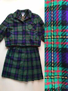 Pendleton Knockabouts S/M USA Made 2 Pc Bolero Jacket Knee Length Wrap Skirt