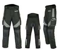 Motorradhose wasserdichte Textilhose schwarz mit Protektoren/Taschen Gr. S - 5XL