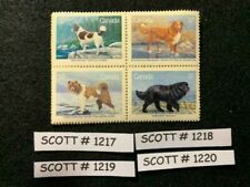 Canada, Canadian Kennel Club, S# 1217-1220, 4 sets of 1 block of 4, 1987, Mnh
