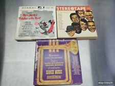 Reel to Reel VTG Music Tapes Lot Of 3 Fiddler Roof Dance Sinatra Martin Davis