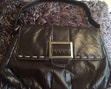 Per Una Medium Size Handbag|Snap Closure|Mock Buckle Feature - Brown