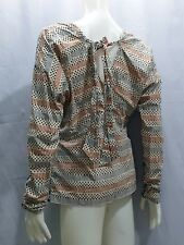 MARNI H&M LONG SLEEVES GRAPHIC PRINTED TIE- BACK TOP  SIZE US 2