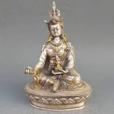 Vintage Tibet Silver Copper Gilt Tibetan Buddhism Statue --- Green Tara Buddha