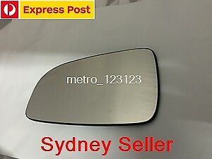 LEFT PASSENGER SIDE HOLDEN ASTRA (AH) 2005 - 2009 MIRROR GLASS WITH PLATE